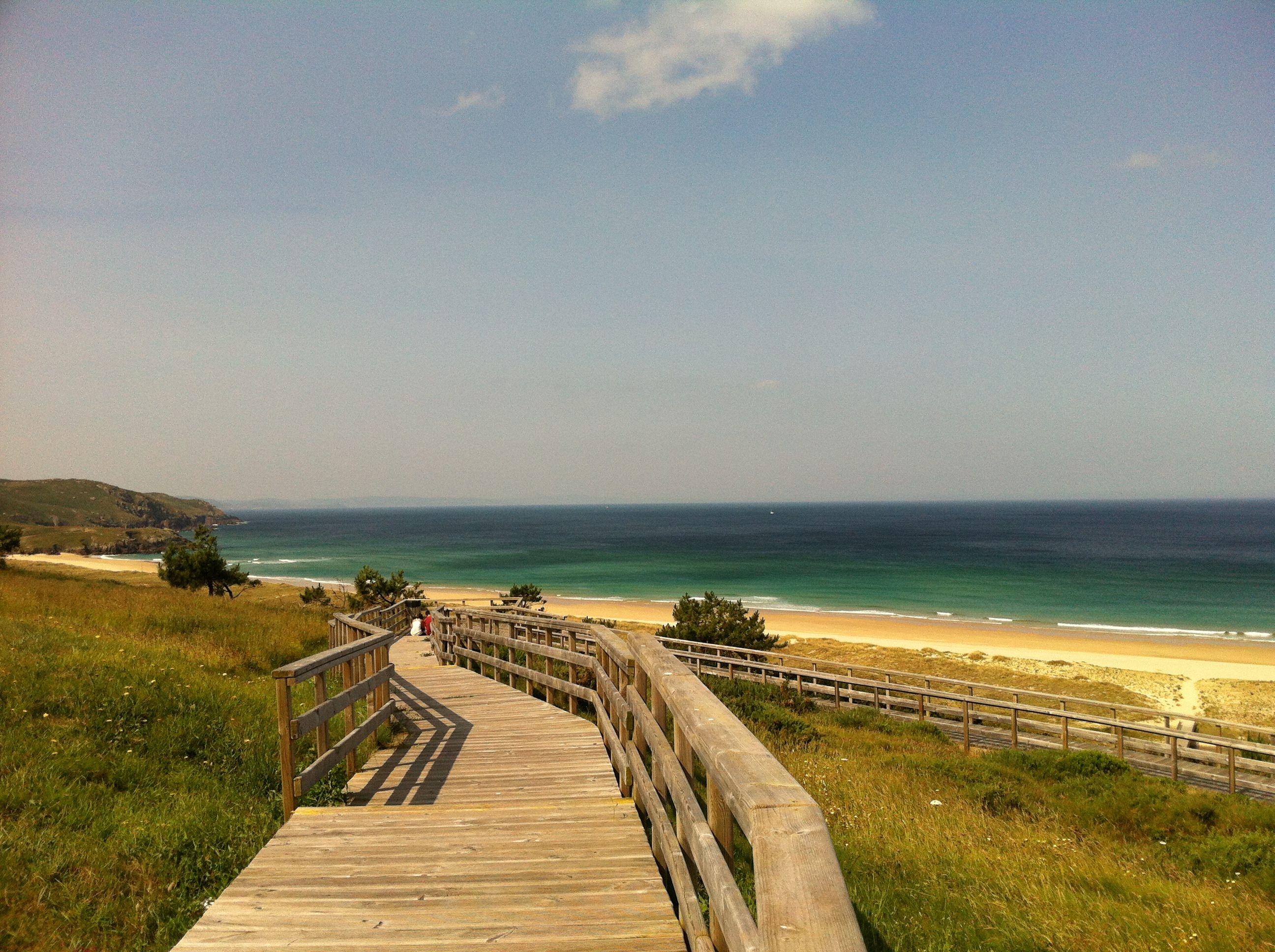 Spain, Galicia, A Coruña, Ferrol, Doniños Beach