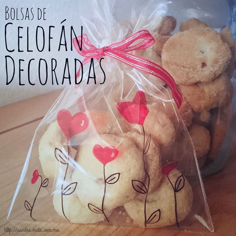 Diy Bolsas De Celofán Decoradas Decorated Cellophane Bags Bolsas De Celofán Bolsa De Galletas Bonbones De Chocolate