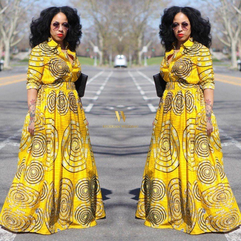 Classy ankara styles nigerian wedding maxi dress shirt collar classy ankara styles nigerian wedding maxi dress shirt jeuxipadfo Gallery