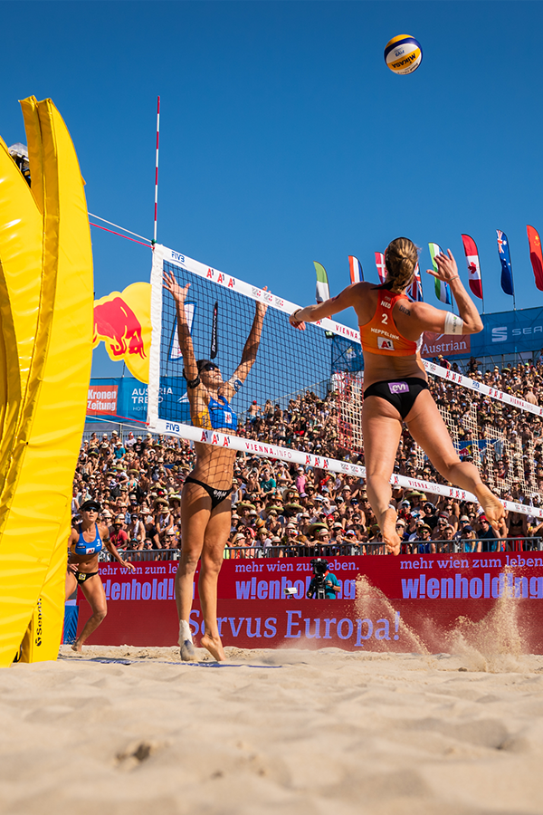Vienna Is Set To Become The Hotspot Of The International Beach Volleyball Scene Again Beach Volleyball Olympic Gymnastics Volleyball