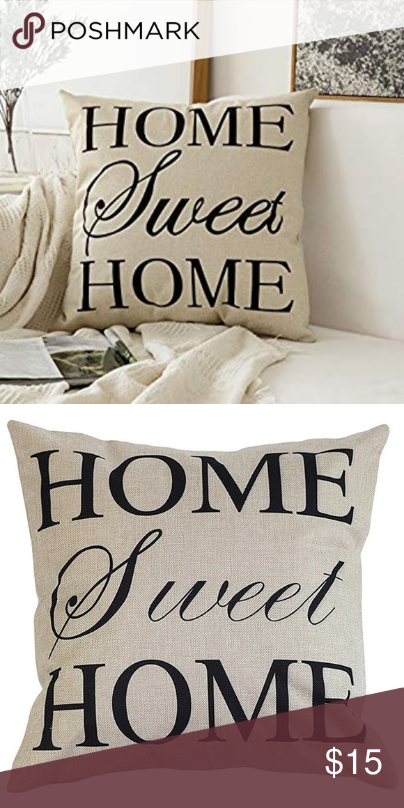 Home Sweet Home Pillow Case Boutique Pillows Decorative Throw Pillow Covers Decorative Throw Pillows