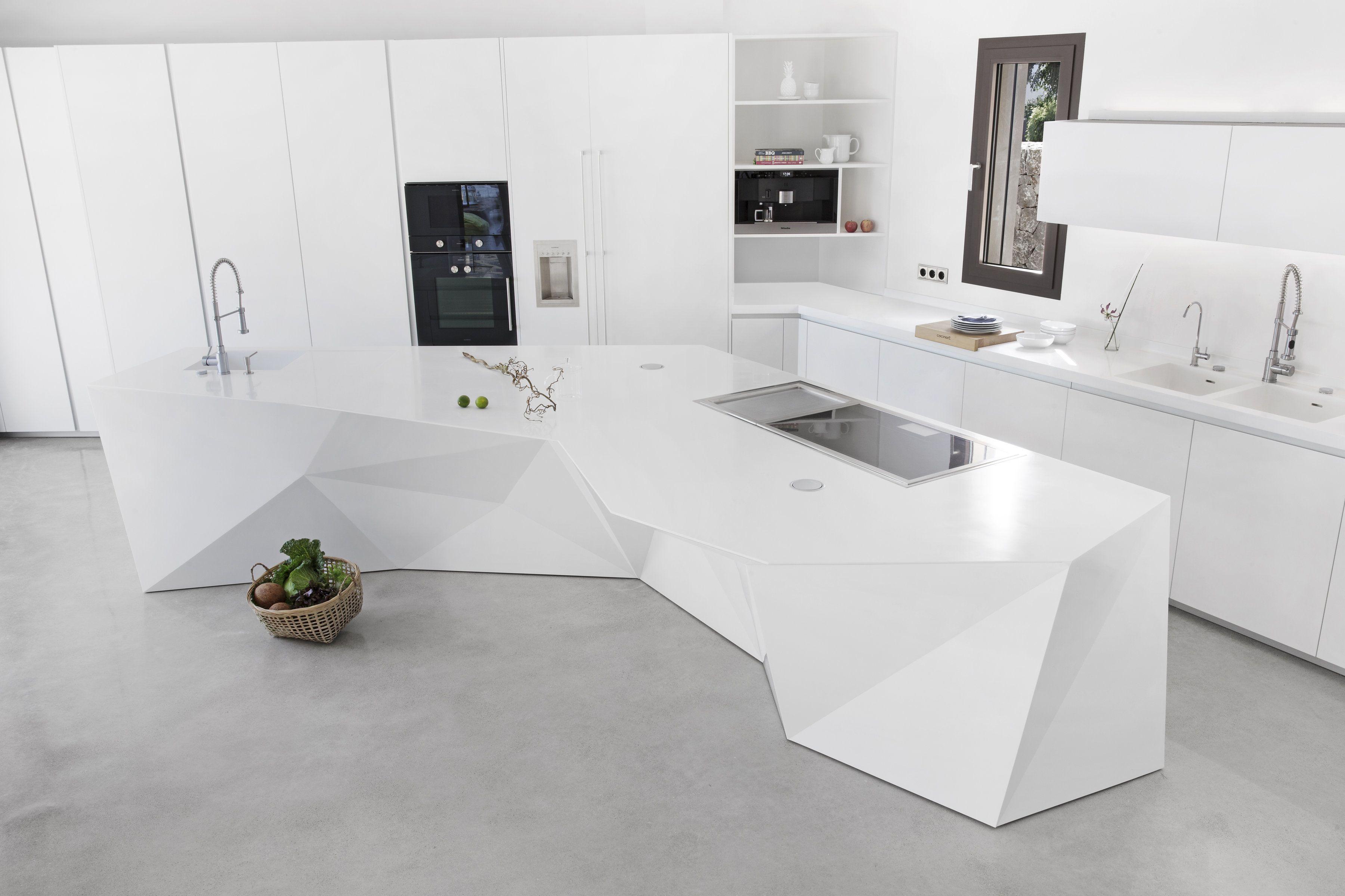 Cocina Cocinart De Inspiracion Origami En Palma De Mallorca Espaciohdg Cocinas Palma De Mallorca Cocinas Modernas