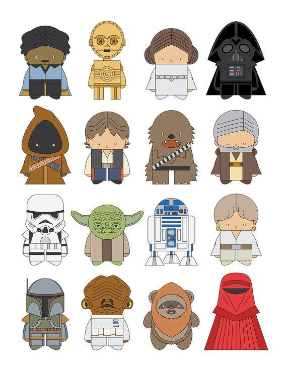 Star Wars All Characters Star Wars Drawings Star Wars Cartoon Baby Star Wars Characters