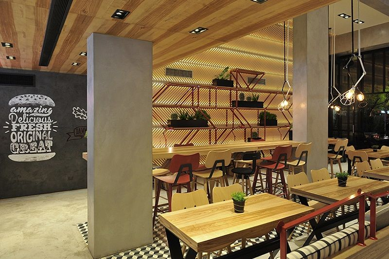 #designmk #restaurant #fastfoodrestaurant #Goodys #renovation #burgerhouse #interior #industrial #diningarea     © Nikos Girinis