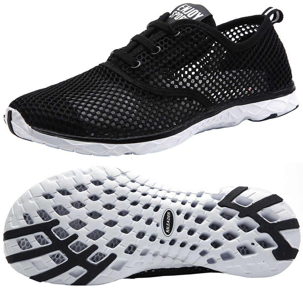 super popular db985 54f4f Aleader Women s Quick Dry Water Shoes Slip On Breathable Mesh Walking  Sneakers