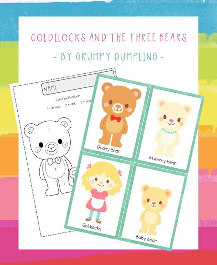 Preschool Goldilocks and the 3 Bears Printables {Free