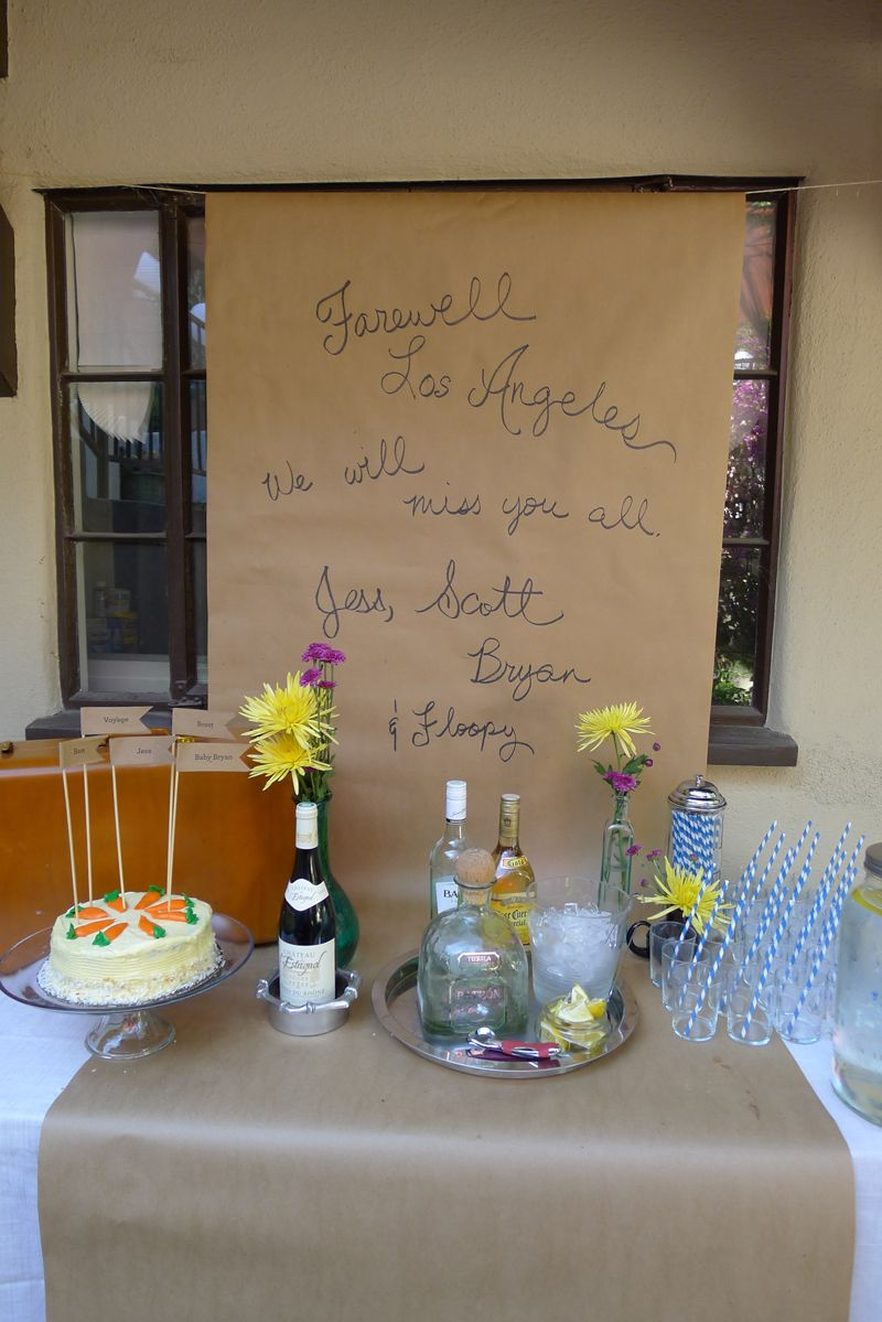 diy travel inspired backyard farewell party farewell