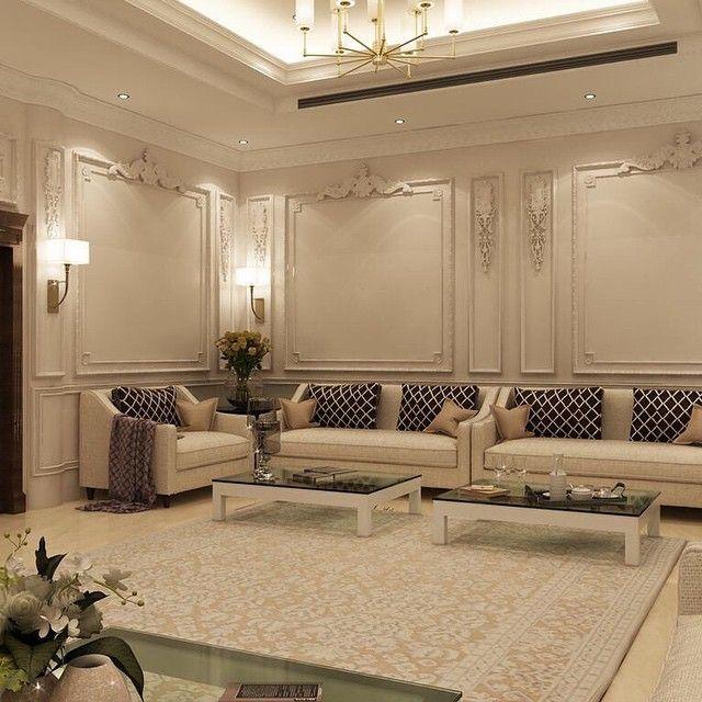 مجلس رجال كلاسيكي جديد من أعمال Shaimaa Ramadan تصميم داخلي السعودية ديكورا Living Room Design Decor Luxury House Interior Design Living Room Decor Modern
