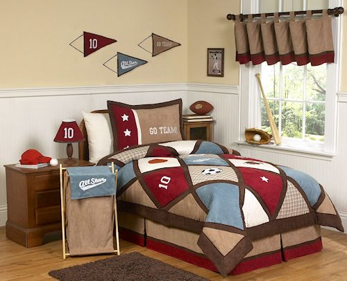 All Star Elegant Kids Sports Bedding For Boys Twin Comforter Set - Boys sports bedding sets twin