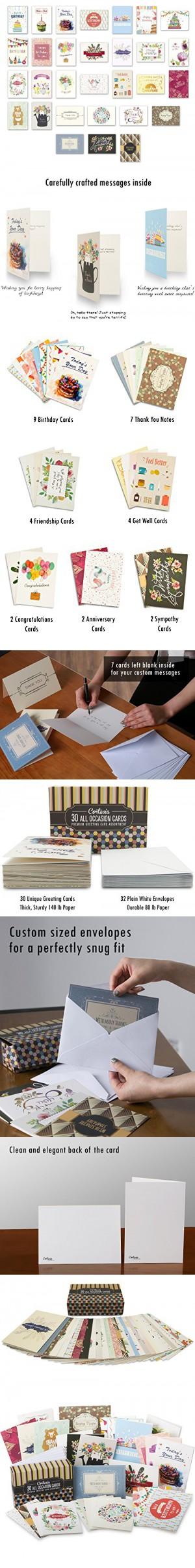 Cortesia All Occasion Premium Greeting Cards Assortment 30 Unique