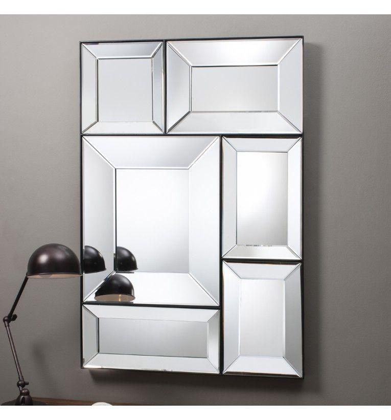 Large art deco squares mirror 122 x 81cm art deco squares