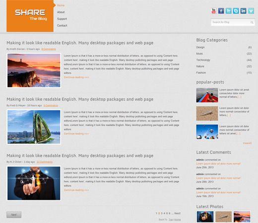 Share Blog Free Responsive Html5 Css3 Mobileweb Template Mobile Website Template Website Template Free Website Templates