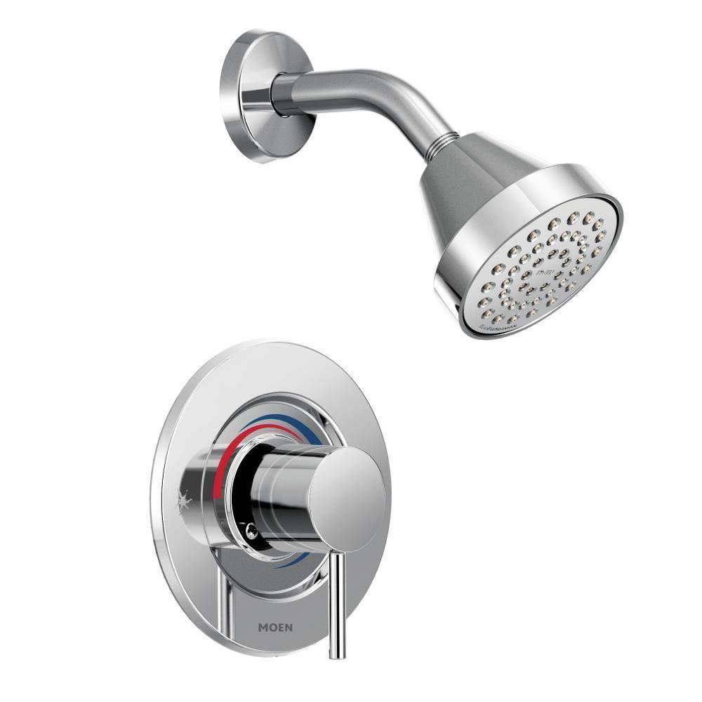 Align 1-Handle Posi-Temp Shower Faucet Trim Kit in Chrome (Grey ...