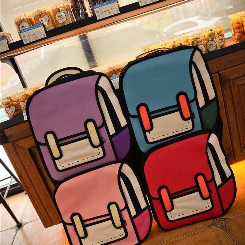 Cartoon paper comic 2d handbag 2d bags anime bag