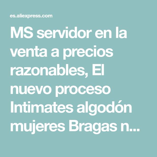 ffbcb6ad075e MS servidor en la venta a precios razonables, El nuevo proceso Intimates  algodón mujeres Bragas