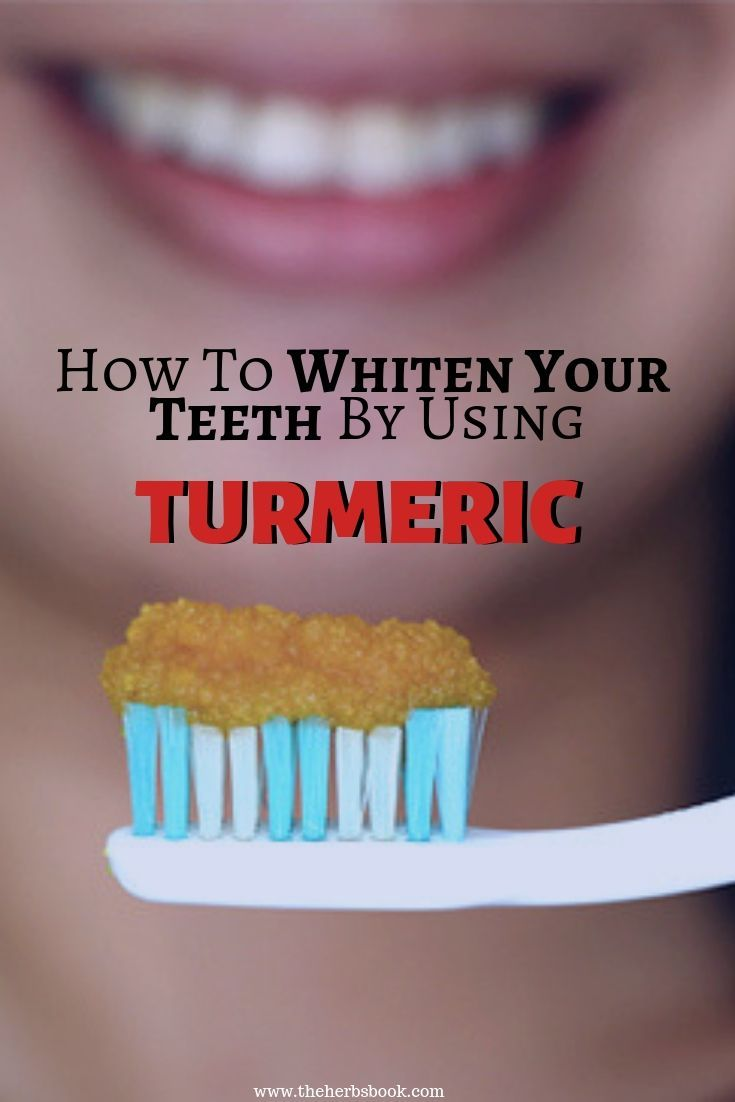How to whiten your teeth by using turmeric diy herbal