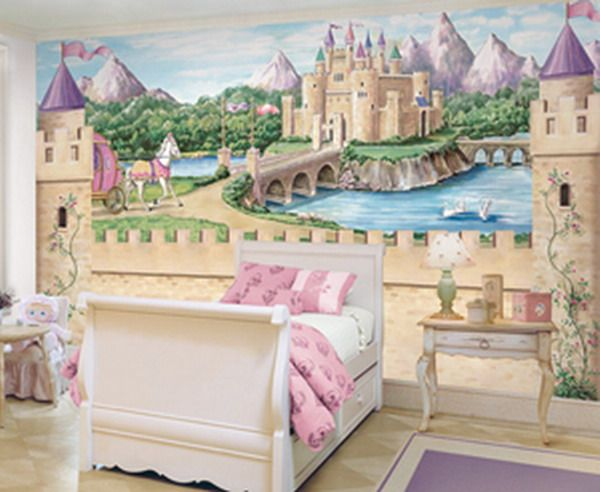 Delicieux Princess Castle Wall Mural  My Niece Would Love It!
