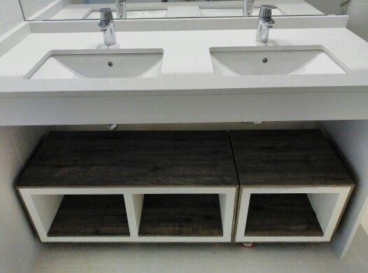 Ba o mueble bajo lavabo ideas ba os pinterest for Mueble para encimera