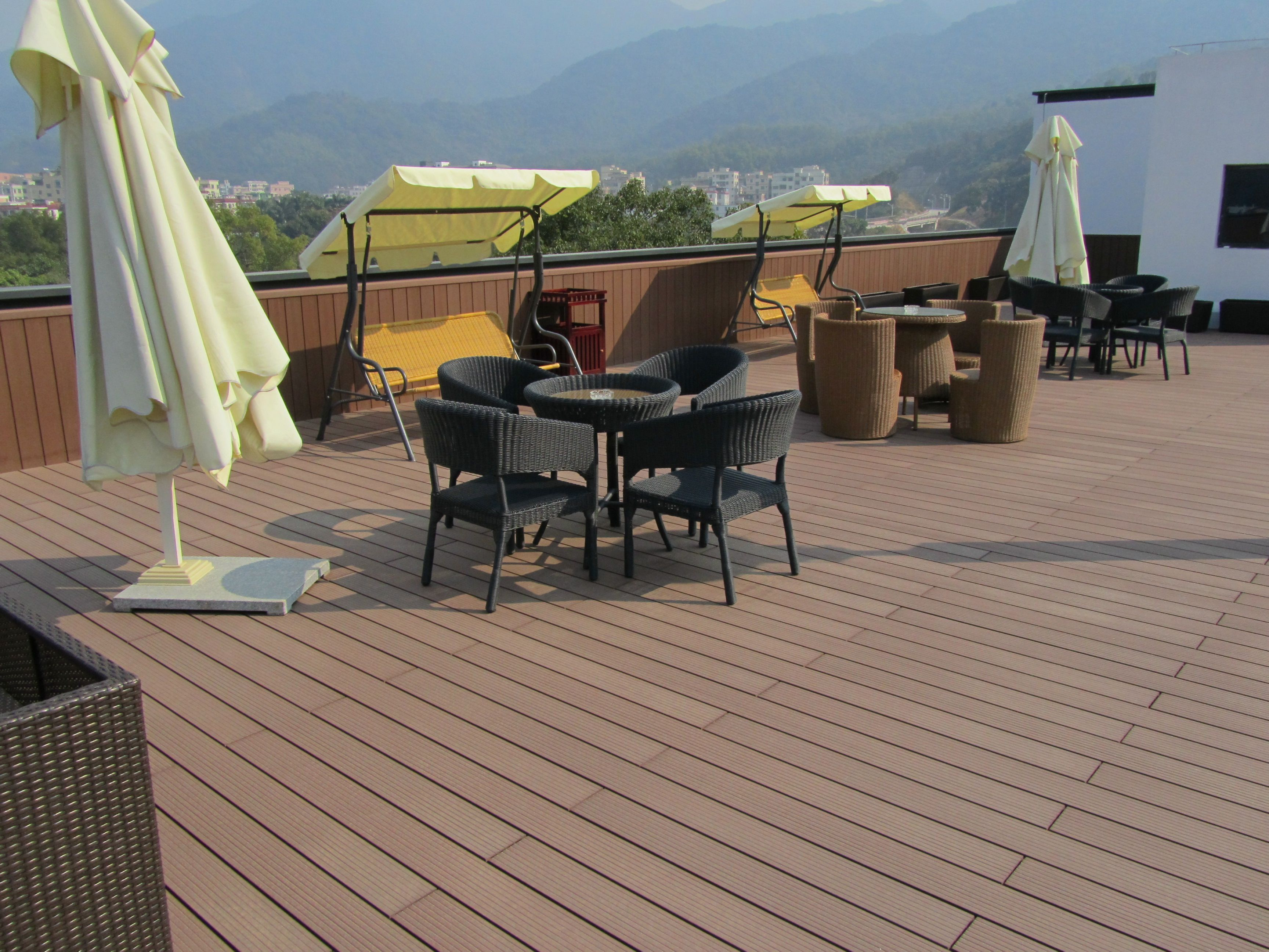 Wpc floor decking composite floor deck price per square for Low price decking