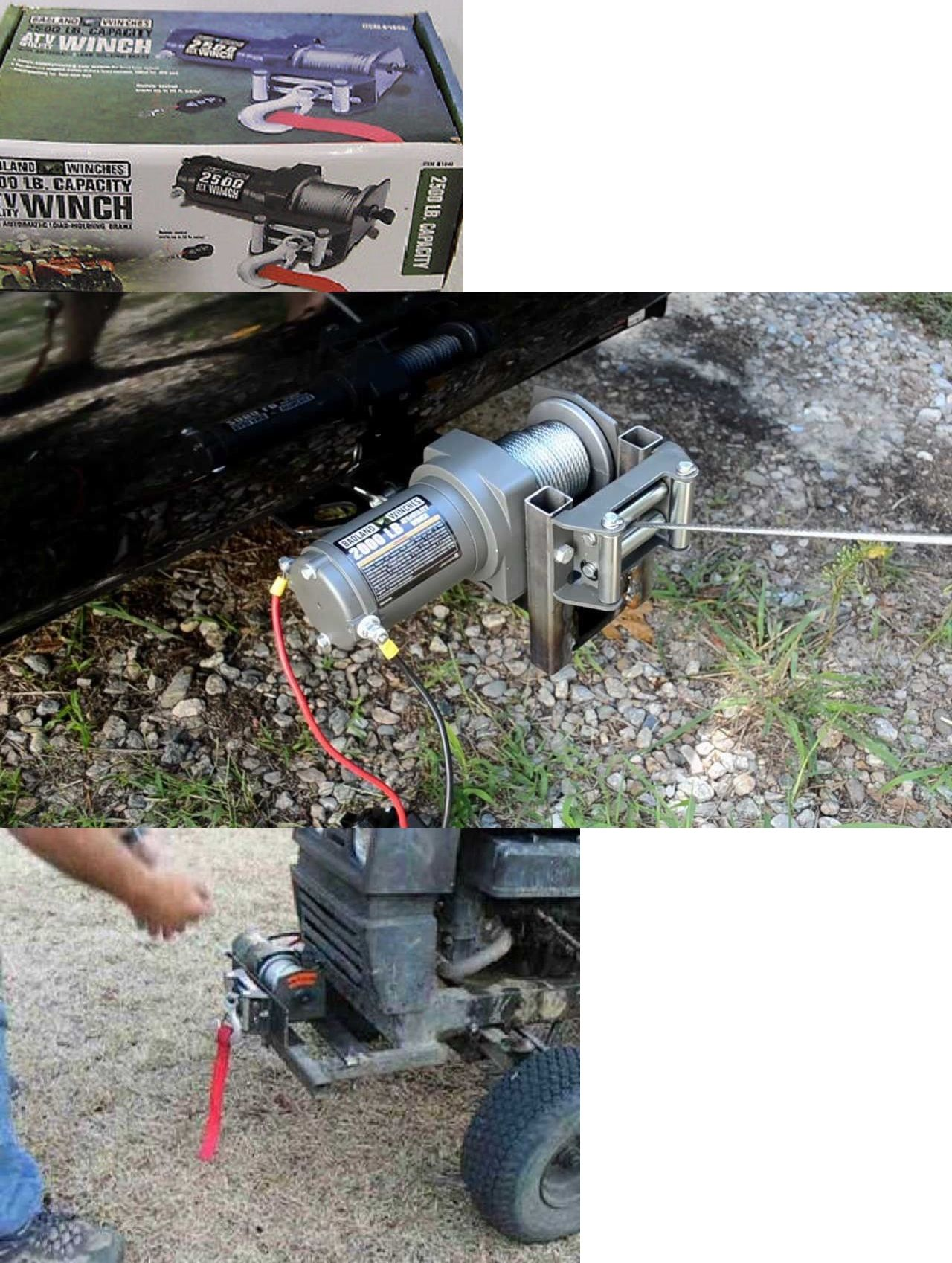 Winches 66798 2500 Lb 12v Atv Utility Electric Winch With Wireless Remote Control New Buy It Now Only 89 99 On Eba Electric Winch Remote Control Winch