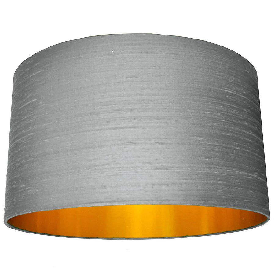 Accessories glamorous grey drum silk lux lamp shades and gold accessories glamorous grey drum silk lux lamp shades and gold lamp shade inner for aloadofball Image collections