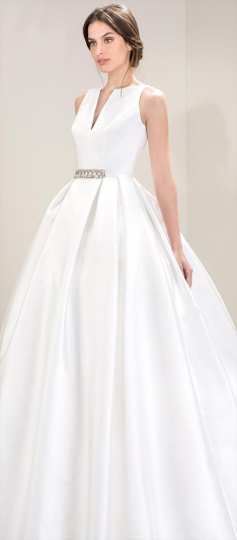 A-line Wedding Dresses : Mikado wedding dress with a ballgown skirt ...
