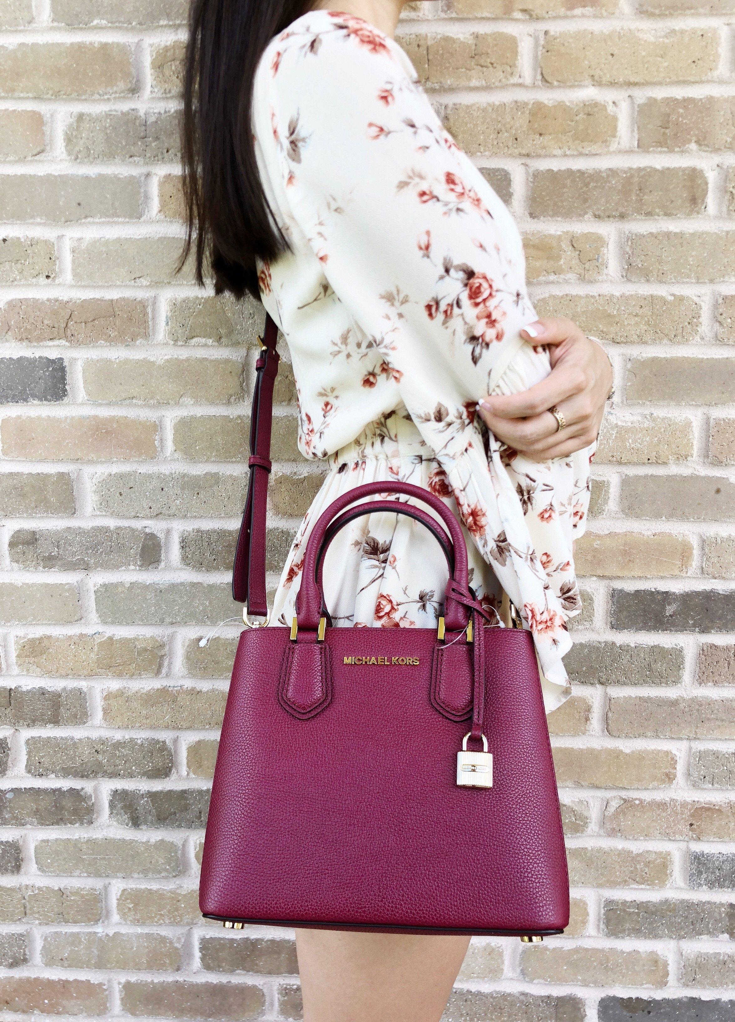 a71029b87deb Michael Kors Adele Mercer Medium Messenger Bag Mulberry  MK  Handbags   MichaelKors