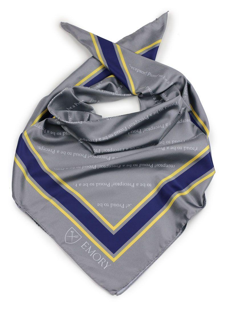 355fc9914a34 custom printed logo scarves womens for Emory University   Our Custom ...