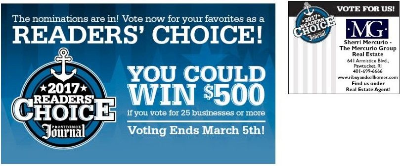 Get a chance to win $500 by just voting! Don't forget to include Sherri Mercurio of The Mercurio Group among your 25 choices!
