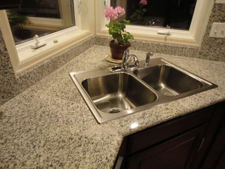 excellent kitchen countertops | 13 Excellent Lazy Granite Tile For Kitchen Countertops ...