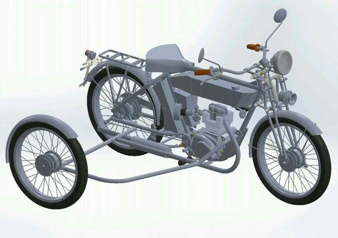 Working on the sidecar frame  A modern approach to a vintage