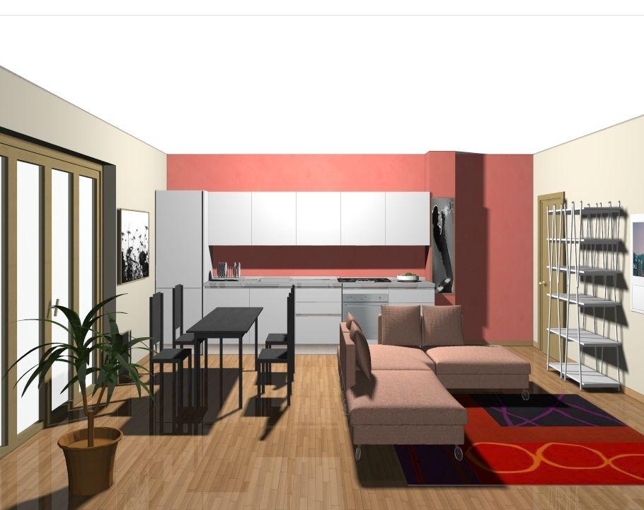 cucina e soggiorno in un ambiente unico   cucine Domus arredi ...
