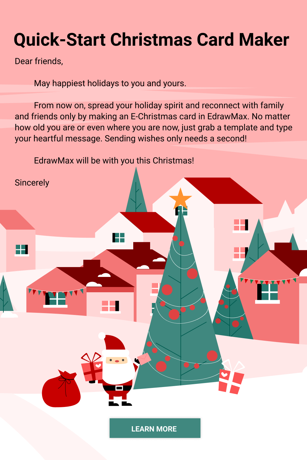 Free Online Christmas Card Maker Edrawmax Christmas Card Maker Christmas Card Online Christmas Card Templates Free