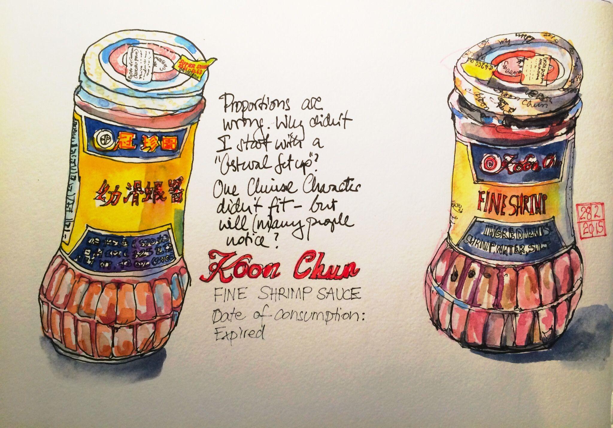 "Koon Chun Fine Shrimp Paste, second done with ""Gestural Setup"" | 출처: crclapiz"