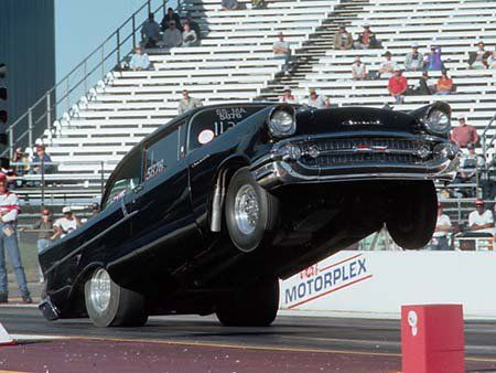 57 Pulling the front wheels Drag cars, Cars motorcycles