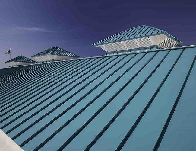 Restoriation Of A Metal Roof Metal Roofing Systems Roofing Systems Metal Roof Paint