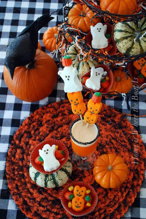 Ghostly Spirits  Halloween Peeps Candy corn and Spirit halloween