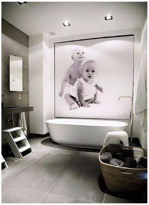DECORALINKS.COM : Oversize photos in the bathroom
