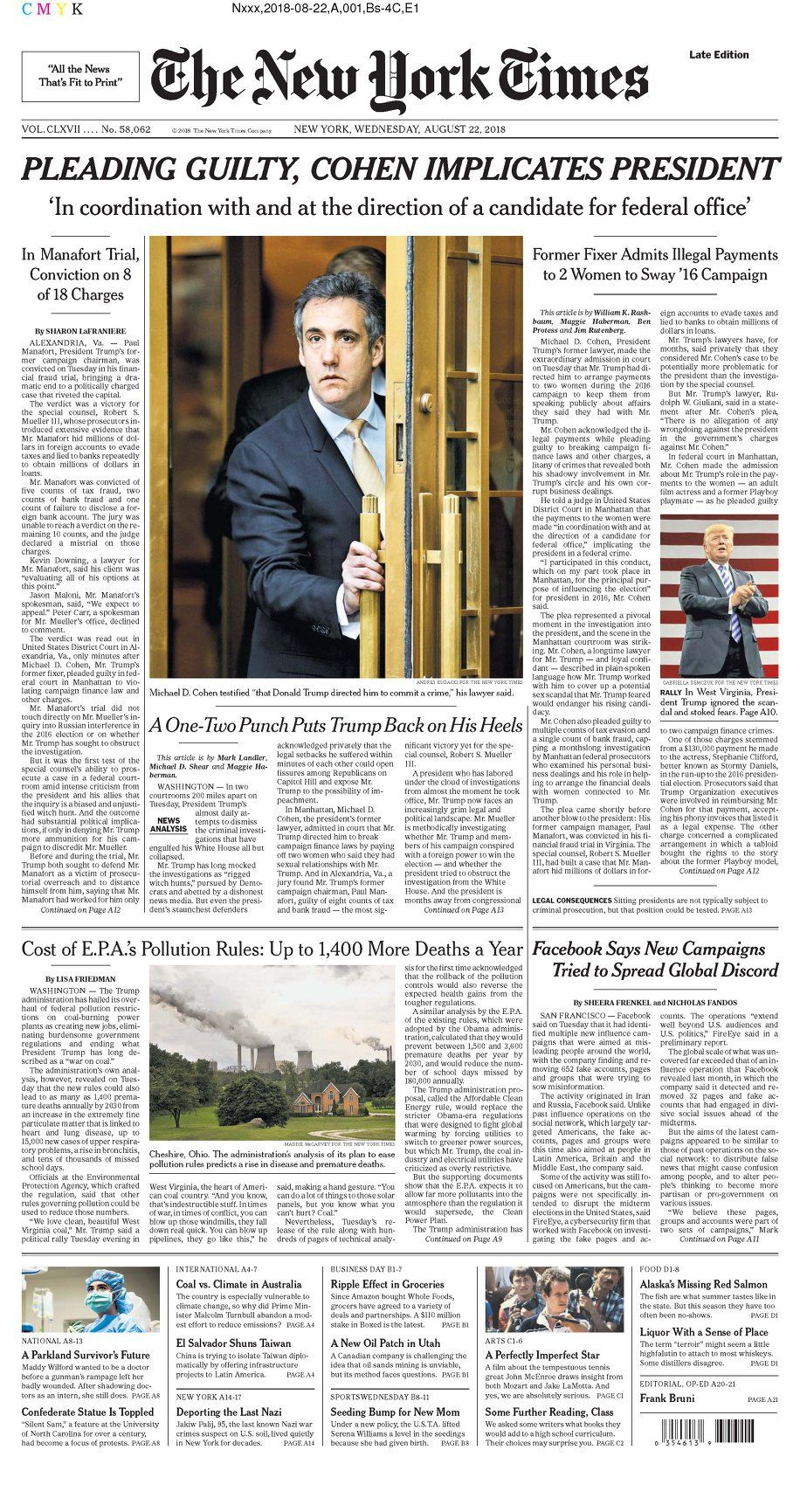 (1) Twitter Ny times, Conviction, New york times
