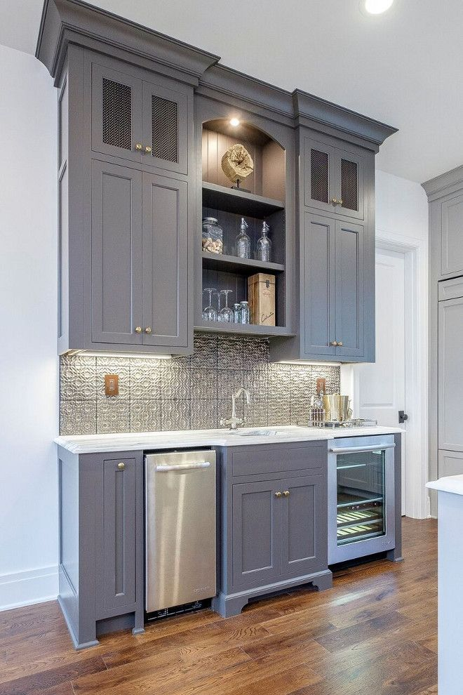 Best Blue Gray Cabinet Paint Color Benjamin Moore 2134 30 Iron 400 x 300