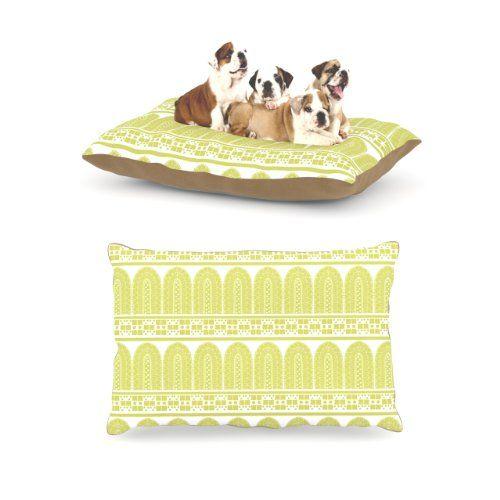 "Kess InHouse Nandita Singh ""Tribal"" Green Pattern Dog Bed Kess InHouse http://www.amazon.com/dp/B00J8F8FXC/ref=cm_sw_r_pi_dp_2Xj0tb11R2KMQHWC"