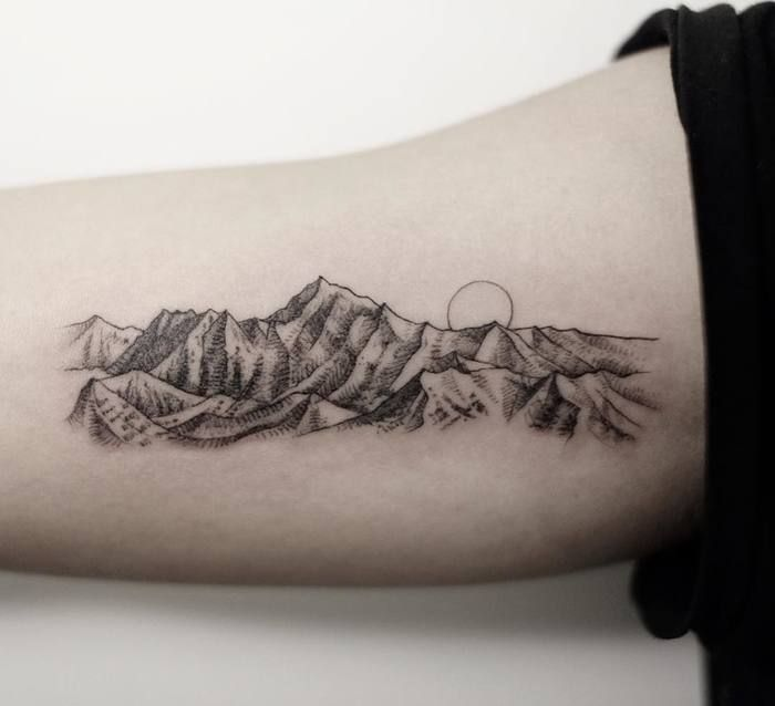 41dc609cf 46 Magnificent Mountain Tattoo Designs | Ink, Paint, & Charcoal ...