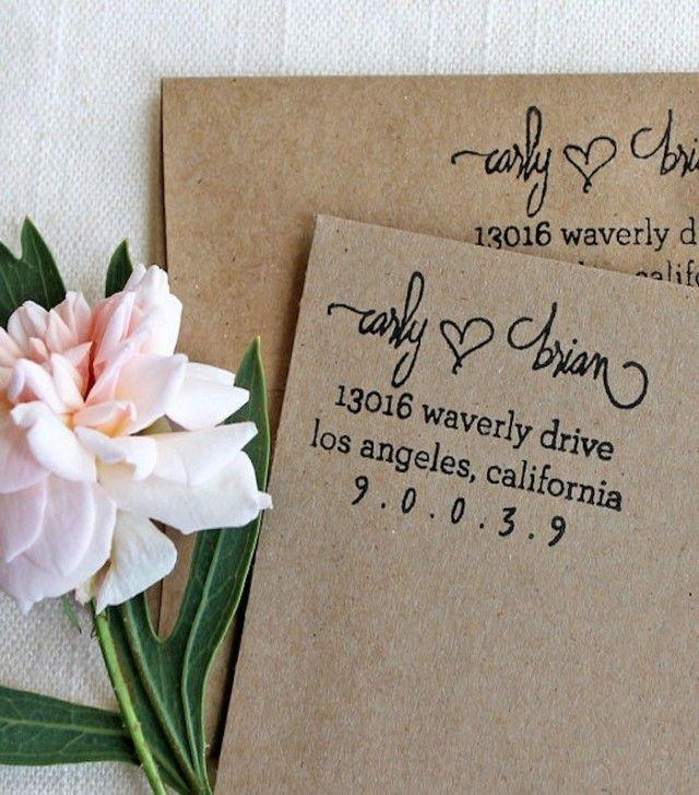 Weddings Flourish Design Co Custom Return Address Stamp