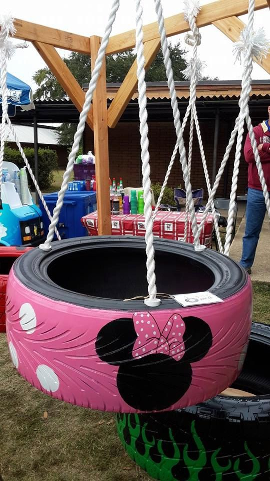 Minnie Mouse Tire Swing | Bella\'s page | Jardins, Jardin maison ...