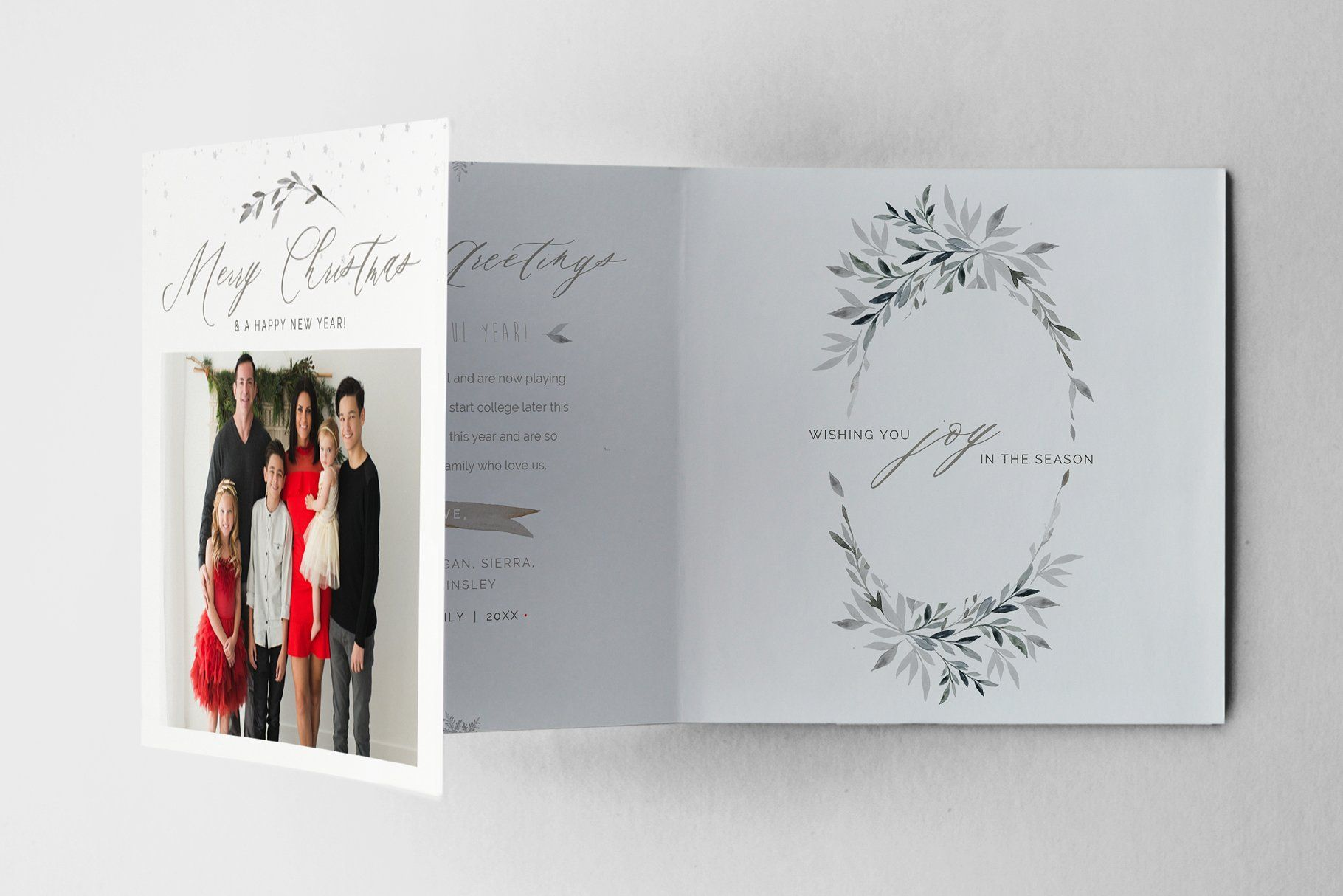 Accordion Christmas Card Template Photoshop Template By Stephanie Design Christmas Card Template Photoshop Template Design Card Template