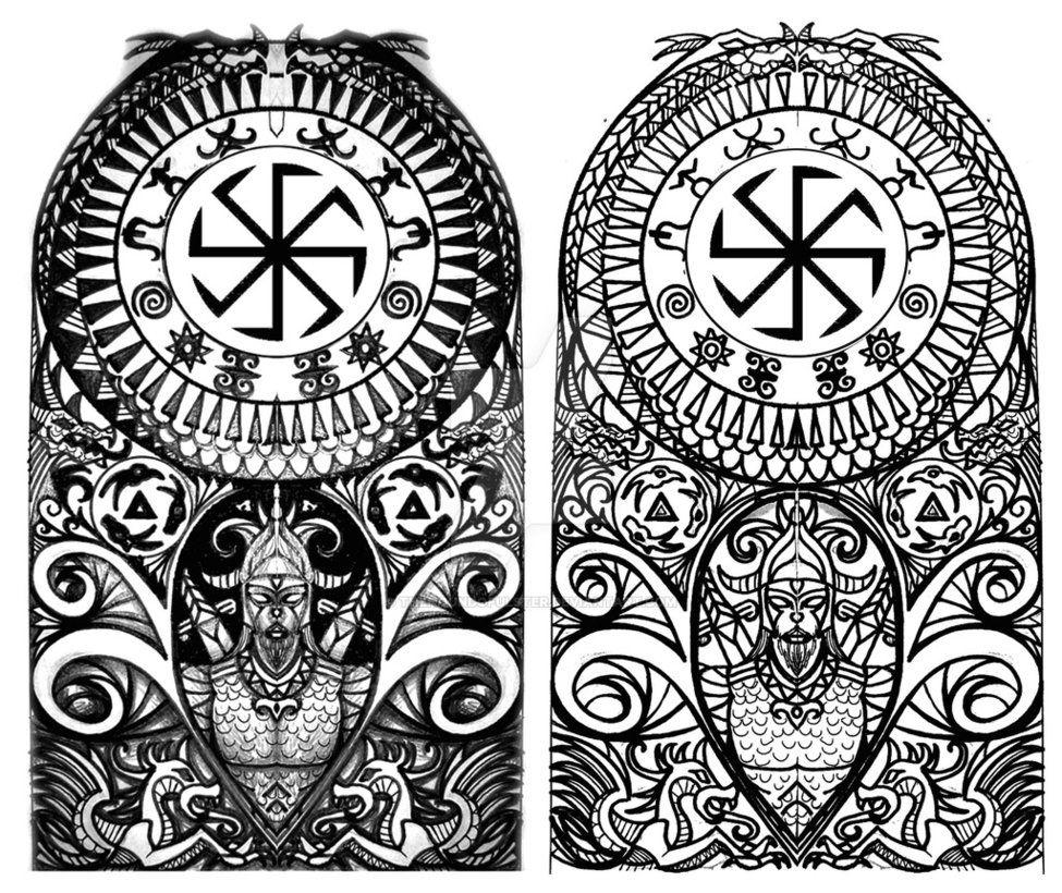 Viking Halfsleeve By Thehoundofulster Viking Tattoo Sleeve Mythology Tattoos Viking Tattoos