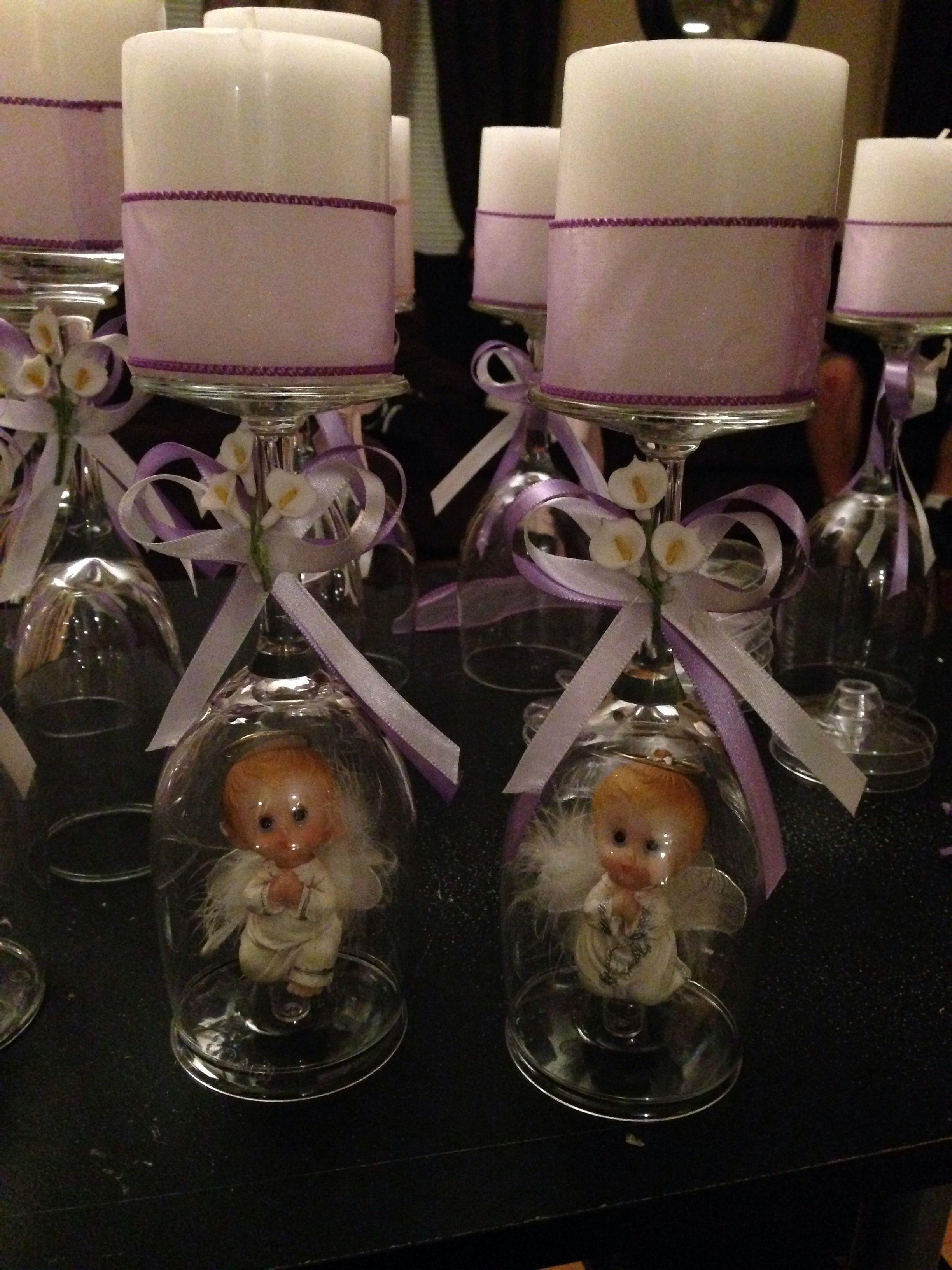 Centro de mesa p bautizo flori s party