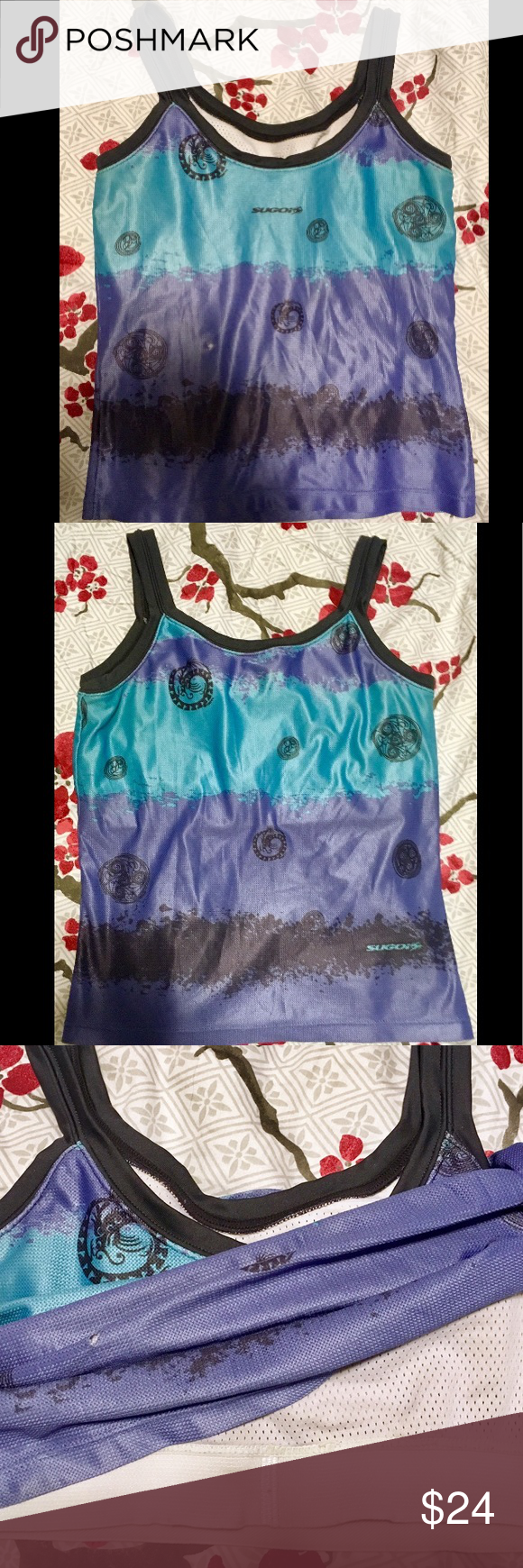 SUGOI Sports Athletic Top w/Built in Bra Size S SUGOI RS