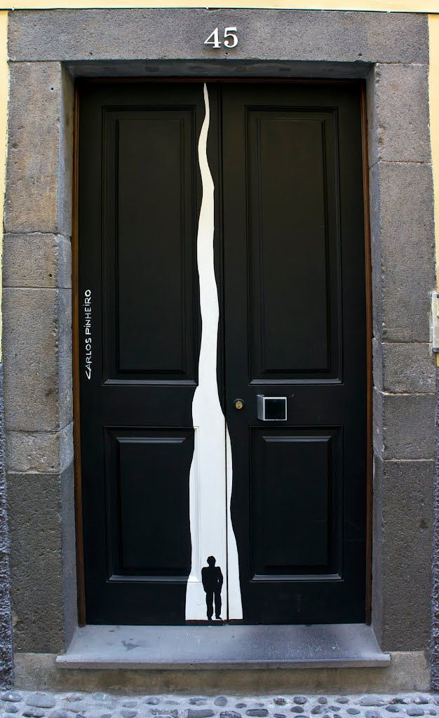 Decorated Painted Door In Funchal Portugal Tur Holz Madeira Eingang