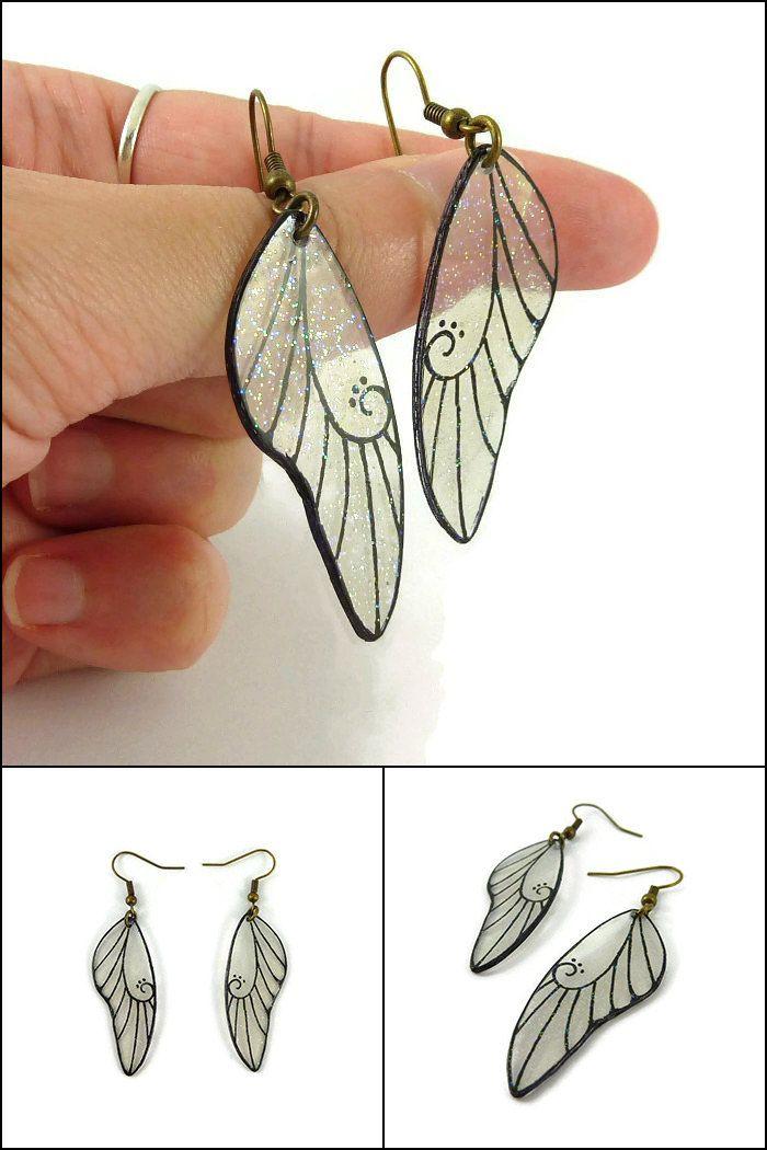 3d5c390d6 Diy Plastique Fou, Plastique Recyclable, Dragonfly Wings, Shrink Art, Wing  Earrings,